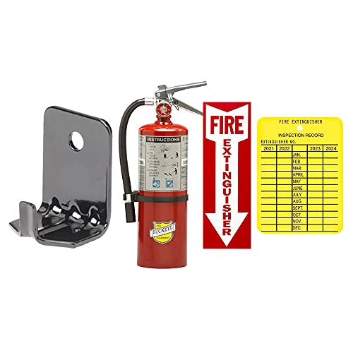 5 Lb. Strike First, Type ABC Dry Chemical Fire Extinguisher with Wall Hook, Sign and Inspection Tag