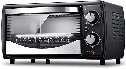 12L Mini horno, con asador eléctrica Rotisserie 30 minutos Diseño de disipación de calefacción de tiempo 700W Convección Tostadora Horno
