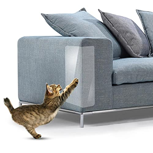 Kratzschutz for Katze Hund, Anti Scratch Aufkleber Schutz Möbel Kratzschutz Transparentes Katzen Möbelschutz Anti Kratzer Katzen Ausbildung Klebeband für Möbel Couch Tür