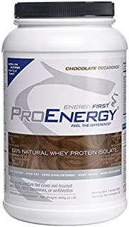 Sponsored Ad - ProEnergy Chocolate Whey Protein Isolate Powder | 100% Natural | Grass Fed | Non-GMO | Undenatured | Low Ca...
