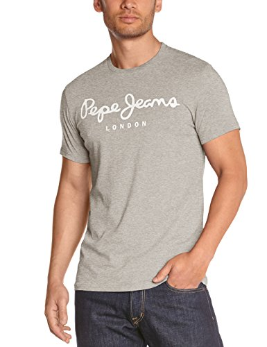 Pepe Jeans Original Stretch Camiseta, Gris (Grey Marl 933), Large para Hombre