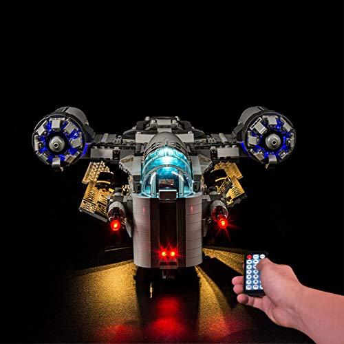 WEEGO LED Lumière Kit pour LEGO Star Wars The Mandalorian Chasseur de Primes, LED Jeu de Lumières Kit Éclairage Compatible avec Lego 75292- (Non Inclus Le Modèle)