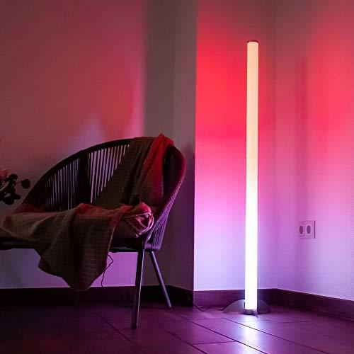 Design RGB LED Steh Leuchte Stand Lampe Farbwechsler Strahler Fernbedienung Dimmer Beleuchtung