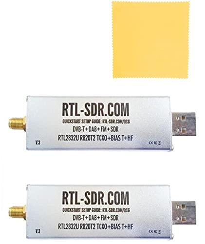 [2本セット]RTL-SDR.COM V3 RTL2832U R820T2 TCXO/1PPM SMA-J(HF Direct Sampling Mode Q-branch)Software Defined Radio [チューナー単品/アルミダイキャストケース][RTL-SDR.COM正規品]