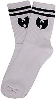 Wu Wear Classic Logo Comfort Socks, Calcetines, Wu Tang Clan Moda Callejera Urbana, Hip Hop, Hombres, blanco