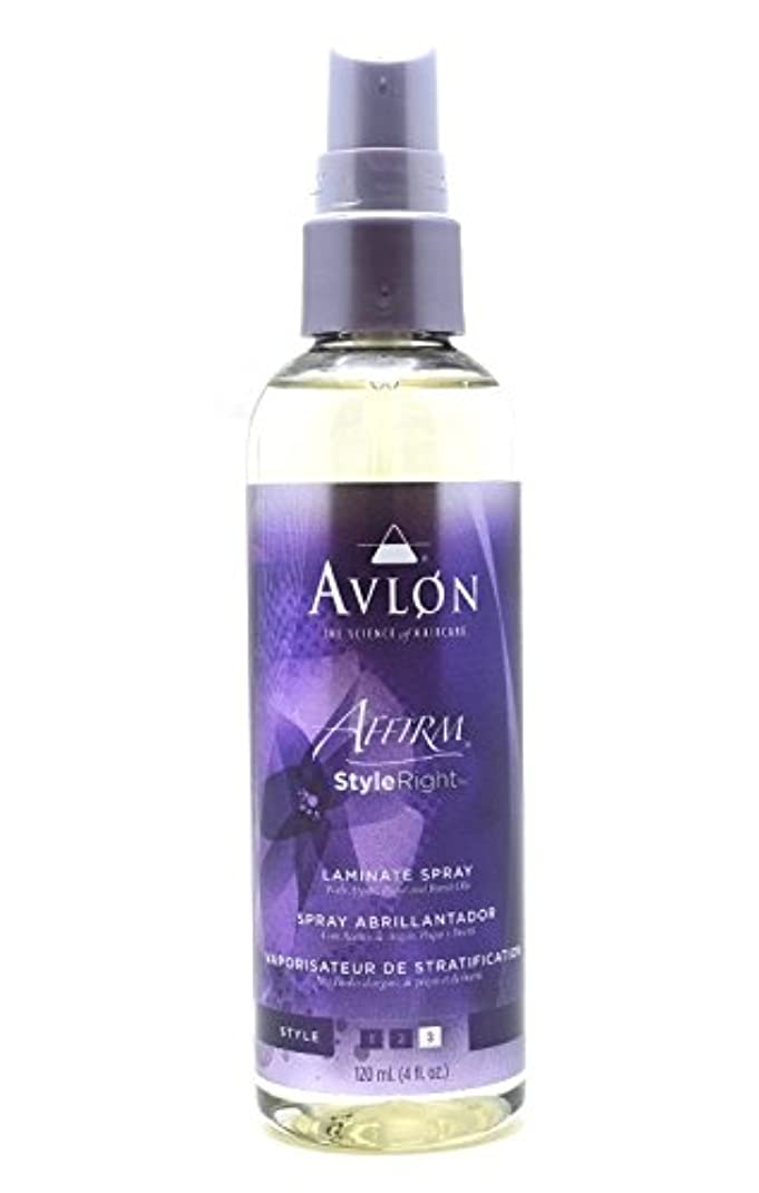 せっかち構想する民主主義Avlon Hair Care アバロンアファームスタイル右ラミネートスプレー - 4.0オンス 4オンス