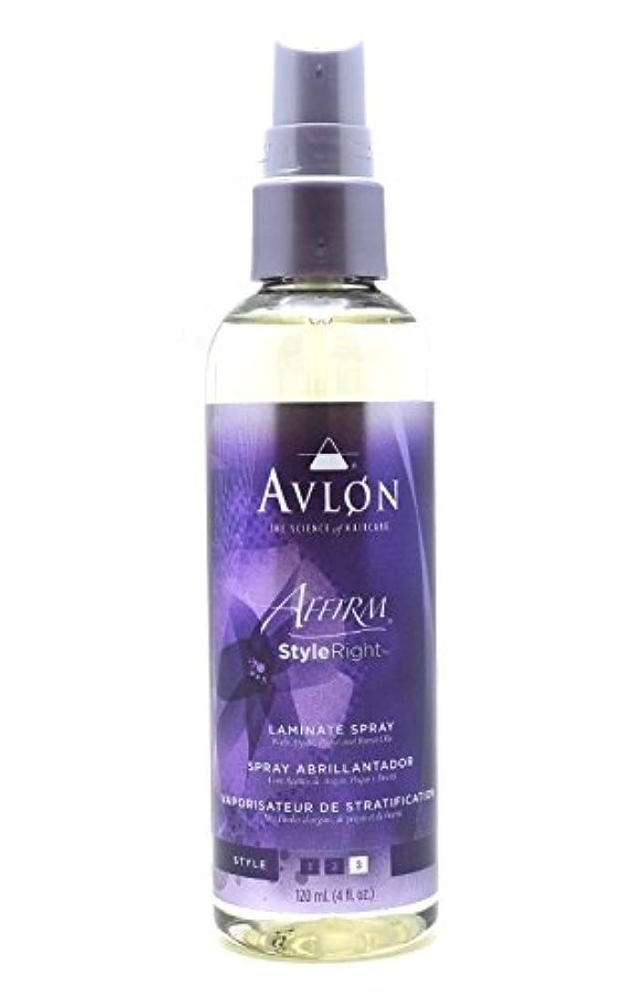 大胆ウサギ葉っぱAvlon Hair Care アバロンアファームスタイル右ラミネートスプレー - 4.0オンス 4オンス