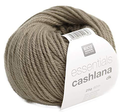 Rico Essentials CASHLANA dk Fb. 009 Kiesel Kaschmirwolle Merinowolle extrafein Babywolle