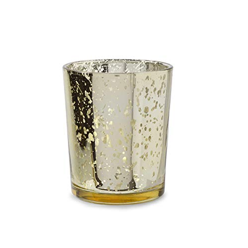 Bulk Buy: Darice DIY Crafts David Tutera Gold Spot Plating Glass Votive Cup DT2511G by Darice Bulk Buy