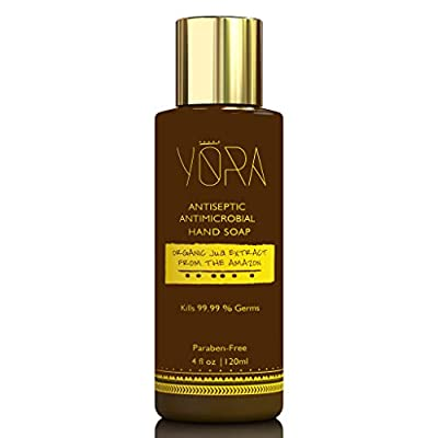 Yora Hand Soap Sanitizer Extra Strength Kills 99.99% Germs Antiseptic and Antimicrobial Enhanced   Organic Jua Extract