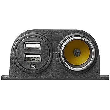 3er Aufbau Power Steckdose USB und Zigarettenanzünder 12V