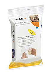 official product image Medela Quick Clean wipes in the package on a white background