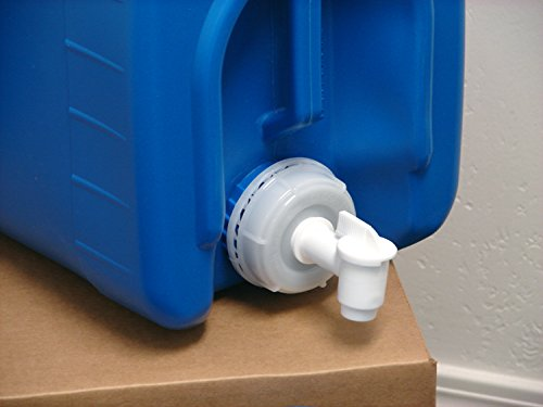 API Kirk Containers 5 Gallon Samson Stackers, Blue, 6 Pack (30 Gallons), Emergency Water Storage Kit - New! - Clean! - Boxed! Kit Includes one Spigot & Wrench 5