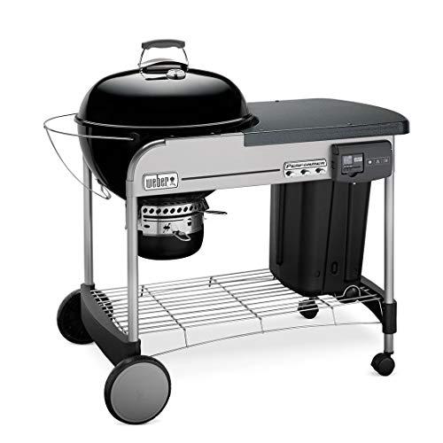 Weber Performer Deluxe GBS Barbecue Carrello A legna Nero, Acciaio inossidabile