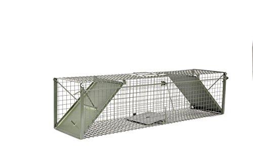 KrapTrap® Waschbärfalle Nutriafalle Katzenfalle Lebendfalle Marderfalle extra groß 116 x 29 x 29 cm