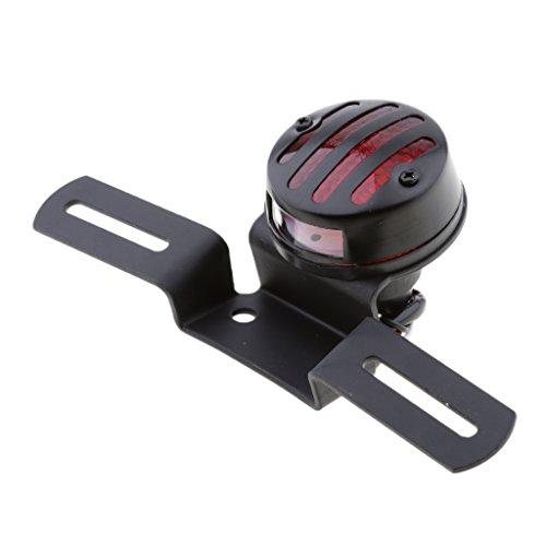 B Blesiya Motorcycle Brake Light Black Taillight Turn Signal with License Plate Holder License Plate Holder