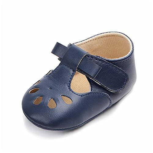 JDGY Zapatos para bebé de verano, zapatos para niños, zapatos para aprender a correr, suela suave, sandalias para bebé, antideslizantes, zapatos para la playa, azul oscuro, 21