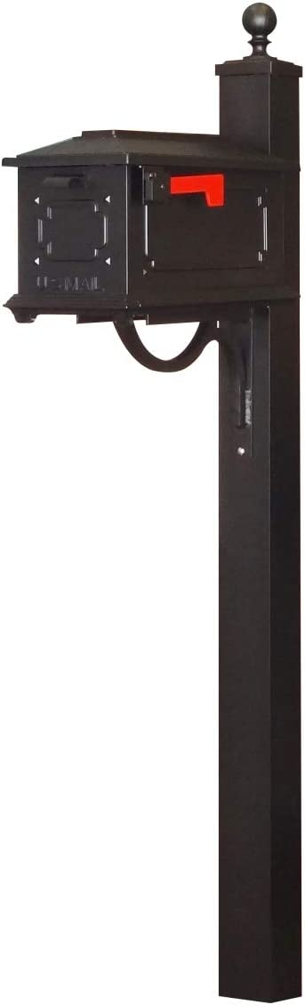 Special Lite Kingston Curbside Mailbox With Springfield Mailbox Post Black Garden Outdoor