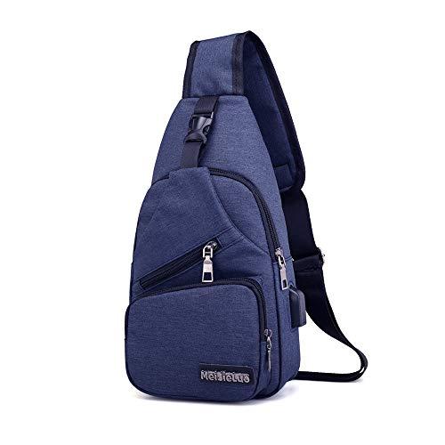 Crossbody Bags for Women Sling Bag for Men Sling Backpack for Women Shoulder Bag for Men (Blue) (Blue)