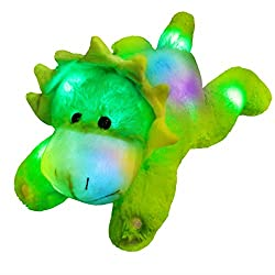 3. Glow Guards 15″ Light up Triceratops Plush