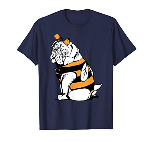 Pug Dog Dressed in Bee Costume Graphic Kids Youth Camiseta