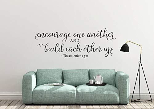 Calcomanía de PVC para animar uno a otro y construir uno a otro hasta 1 Tesalonicenses 5:11.