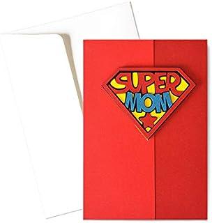 Super Mom - super poteri - festa della mamma - biglietto d'auguri (formato 15 x 10,5 cm) - vuoto all'interno, ideale per i...