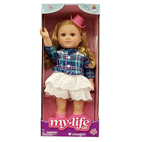 """myLife as Poseable 18"""" Cowgirl Doll - Blonde"""