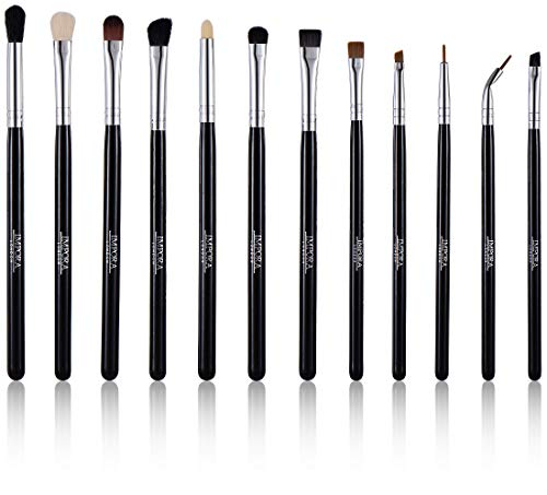 Augen Make-Up Pinsel-Set von Impora London. Enthält - Lidschattenpinsel, Mischpinsel, Faltenbürste, Eyelinerpinsel & mehr [12 Pinsel].