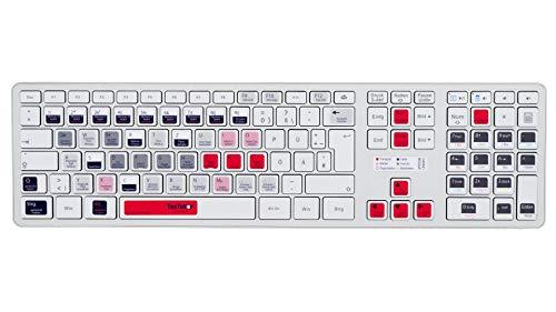 TasTutor Blackmagic Design Davinci Resolve Tastatur Aufkleber auf deutsch für Windows/MAC