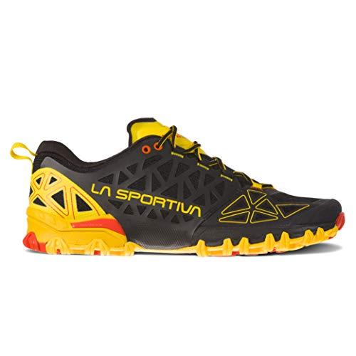 La Men's Bushido II Running Shoe, Black/Yellow, 42