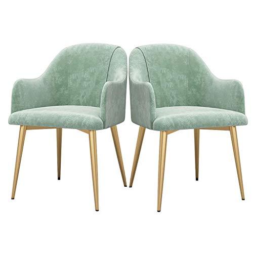 N/Z Tägliche Ausstattung Sofa Esszimmerstuhl Samt Gepolsterte Akzentstühle Küchenkissen Beistellstuhl Inspiriert Stuhl Make-up Dressing Hocker 2er-Set (Farbe: Pink)