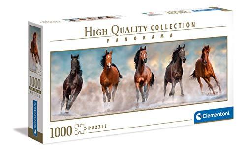 Clementoni- Horses – Puzle Adulto – 1000 Piezas – Fabricado en Italia (39607)