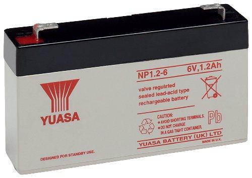 Yuasa NP1.2-6 Blei-Akku 6V (Faston 187-4,8mm)