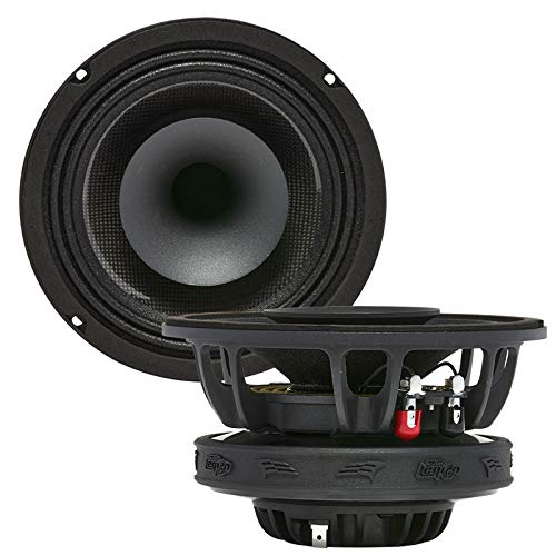 "Audio Legion MR6F 6.5"" 400 Watt Marine Pro Driver Coaxial Speakers - Full Frequency Range, Water Resistant and Durable Speakers for Boat/Motorcycle - (Pair)"