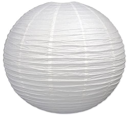 Beistle Jumbo Paper Lantern, 30-Inch, White, White