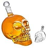 Skull Glass Decanter, Transparent Crysta Skull Head Vodka Whiskey Red Wine Divider Glass...