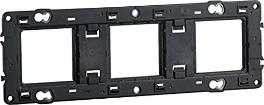Legrand LEG200923 Support mosaic 6 modules rectangulaire 3 x 2 m/ètres Noir
