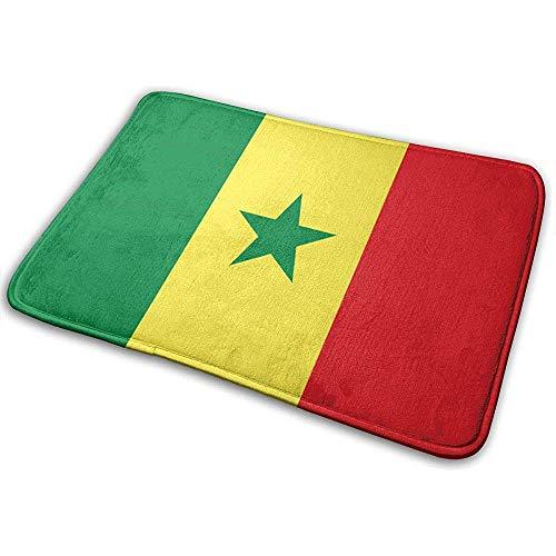 Liumt Alfombras De Baño Antideslizantes con Bandera De Senegal Alfombras De Baño para Interior/Exterior/Puerta Principal/Alfombras De Baño (40 Cm X 60 Cm)