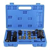 Outil de retrait d'injecteur, 18 pièces extracteur d'injecteur extracteur d'injecteur/kit d'installation ensemble d'outils de moteur de voiture adapté aux véhicules européens à essence FSI