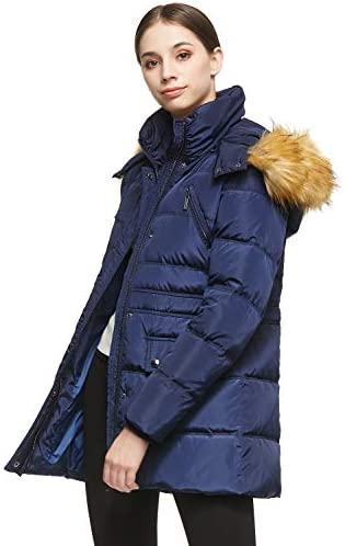 Orolay Women s Thickened Short Down Jacket Winter Coat Navy product image