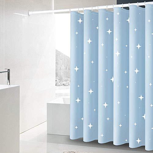 Gordijn Douchegordijn Fade Resistant waterafstotende Star Printed Badkamer Curtain Mould Meeldauw Proof Gordijnen stof Polyester douche douchegordijn Liner for Badkamer (Kleur: Blauw, Maat: 150x200cm)