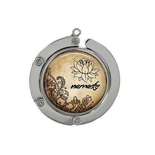Sunshine Namaste Crochet pour sac à main Motif fleur de lotus Om Zen Henné Cadeau pour elle