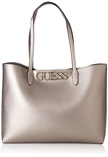 Guess Damen Uptown Chic Barcelona Tote Bag, Grau (Pewter), 13x29x42 Centimeters