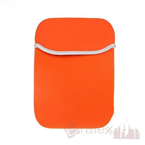 BRALEXX Universal Neopren 8 Zoll Tablet PC Hülle passend für Lenovo IdeaTab A8-50 3G, Orange