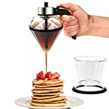 Conworld Syrup Dispenser Supplies, 6.8-Ounce Diluted Honey Dispenser No Drip with Stand, Olive Oil Dispenser Bottle, Suitable for Soy Sauce, Vinegar, Maple Syrup and other Diluted Liquids