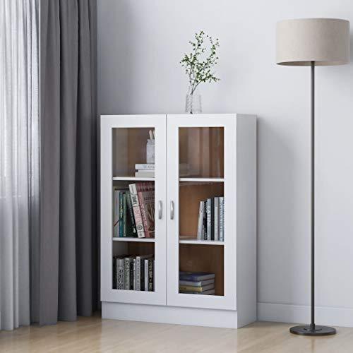 FAMIROSA Vitrina de aglomerado Blanco 82,5x30,5x115 cm