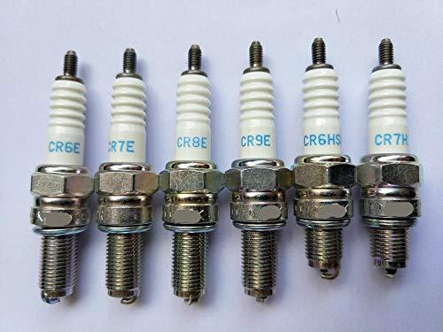 LQW HOME Bujía de Encendido Spark Plug Motocicleta 1pc Compatible con CR6E CR7E CR8E CR9E CR6HSA CR7HSA GW250 Níquel Cobre (Color : CR7HSA)