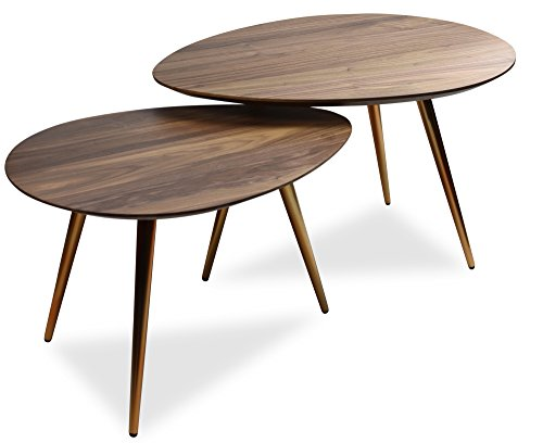 Mid Century Modern Coffee Table Set by Edloe Finch - Coffee Tables for Living Room - Contemporary &...