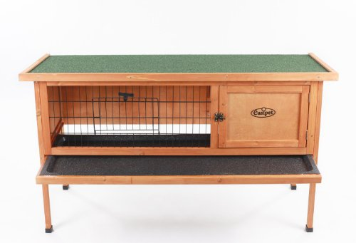 Rabbit hutch with cleaning tray
